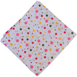Multi Pink Polka Pure Cotton Fabric PC597