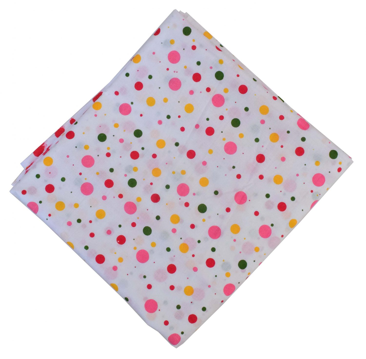 Multi Pink Polka Pure Cotton Fabric PC597 1