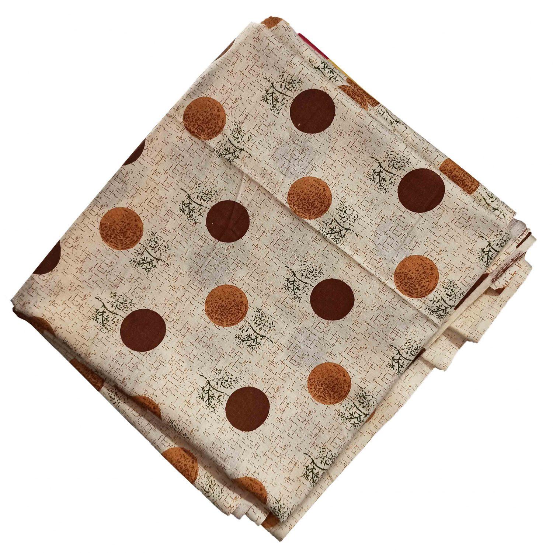 Fawn Polka Print Pure Cotton Fabric PC599 1