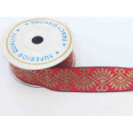 Red Gold Gota Lace LC243