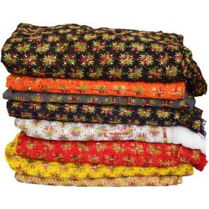 Faux Chiffon Phulkari Fabric with Sequins Work PHSEFC