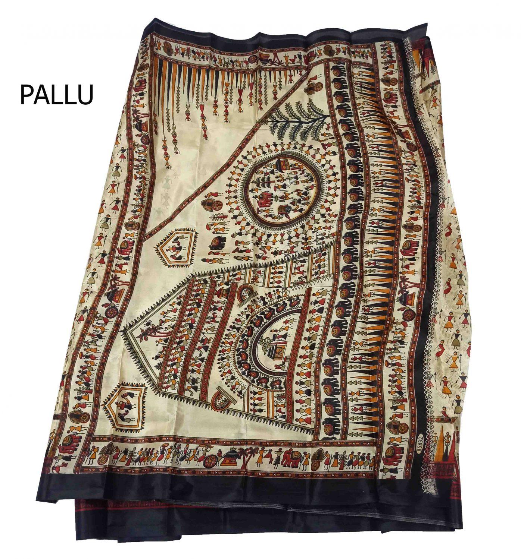 Pure Murshidabad Silk Saree MSS01 2