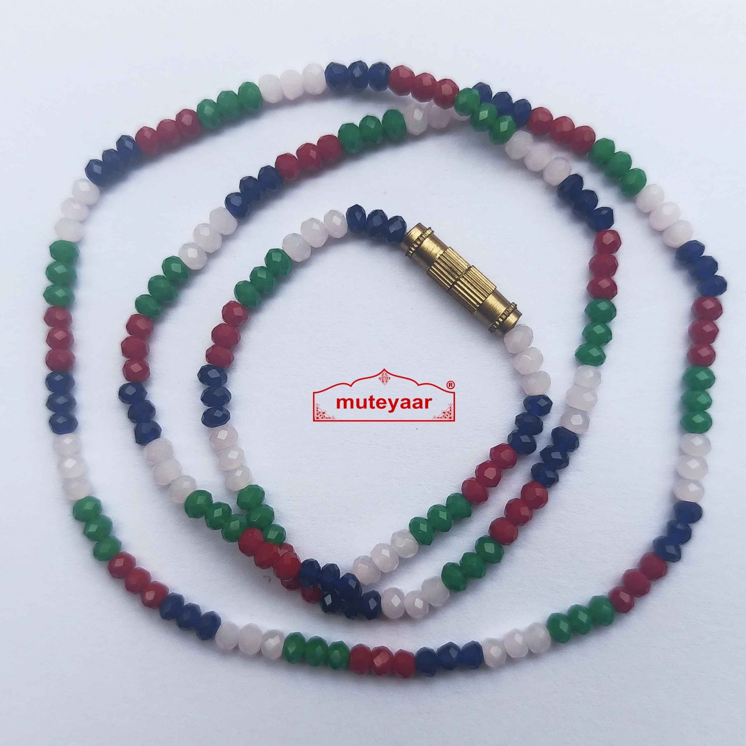 Crystal Chain Necklace 16 Inch Size - Different Colours Available 3