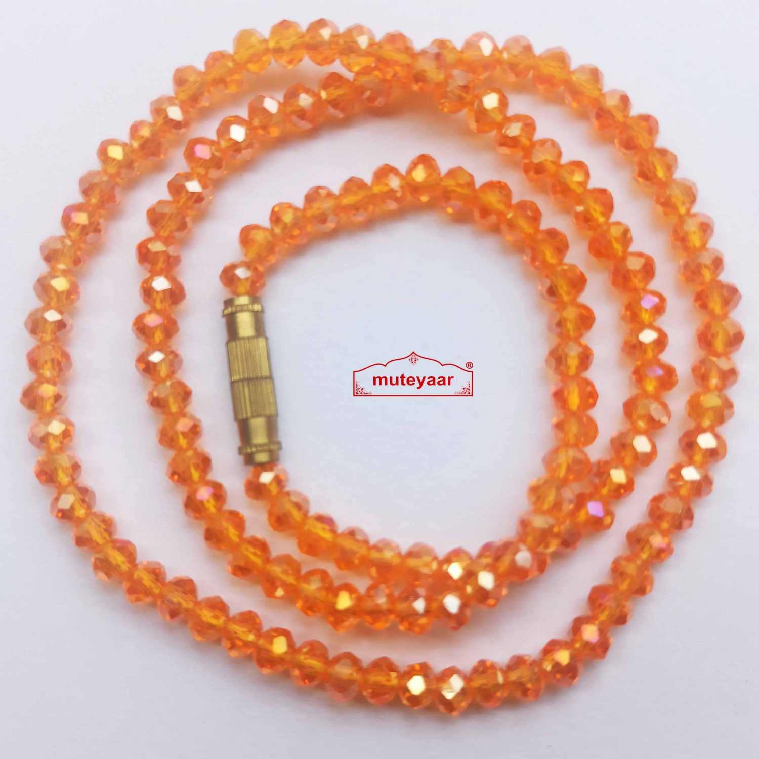 Crystal Chain Necklace 16 Inch Size - Different Colours Available 7