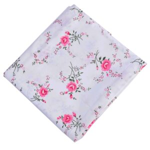 Pink Flowers Printed Cotton Fabric PC600