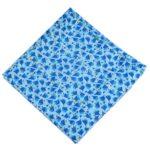 Blue White Printed Cotton Fabric PC604