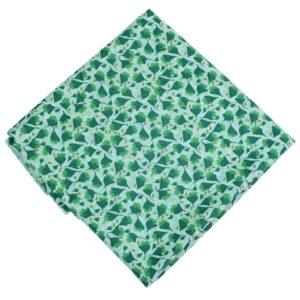 Green White Printed Cotton Fabric PC606