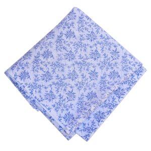 Blue White Printed Cotton Fabric PC607