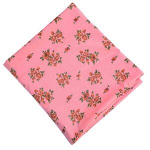 Peach Printed Pure Cotton Fabric PC615