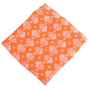 Orange Pure Cotton Printed Fabric PC620