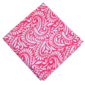 Hot Pink Pure Cotton Printed Fabric PC623