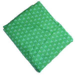 Green Triangles Print Cotton Fabric PC633