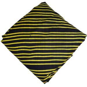 Black Yellow Printed Cotton Fabric PC637