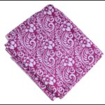 Purple Printed Cotton Fabric PC640