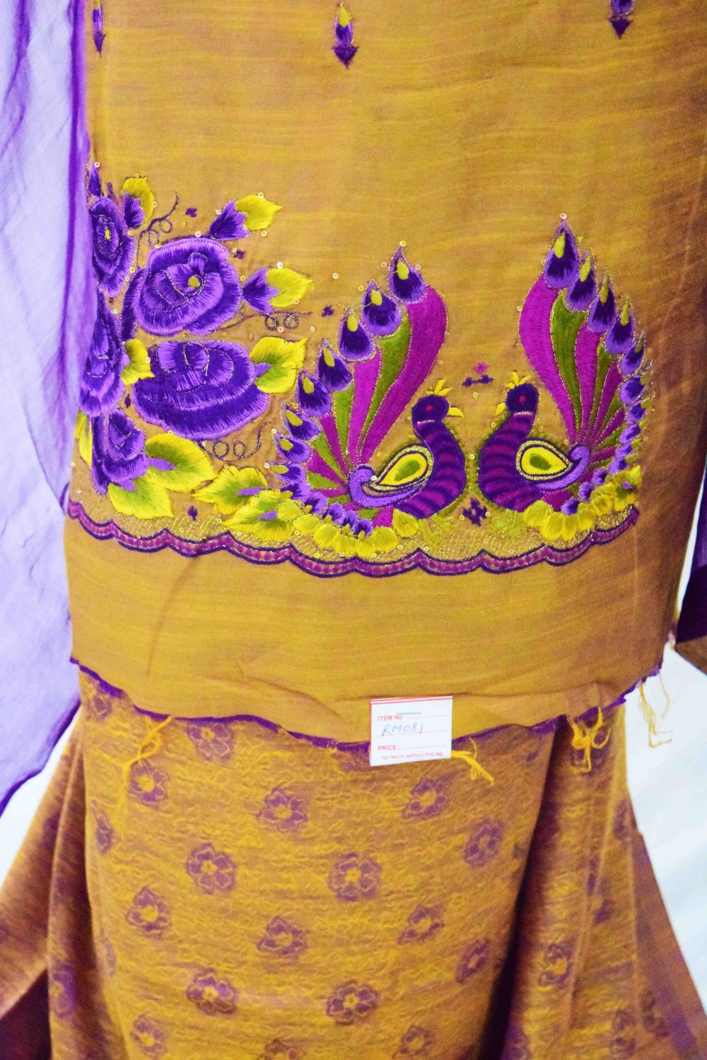 Party Wear Blended Cotton Embroidered Suit RM081 2