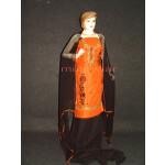 Orange Black Cotton Embroidered Patiala Suit RM238