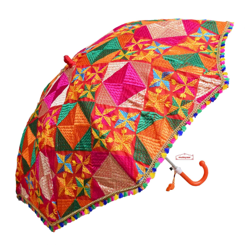 Phulkari Chhatri Decorative Umbrella UMB07 1