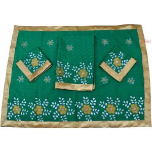 Green Hand Painted Rumala Sahib RL005
