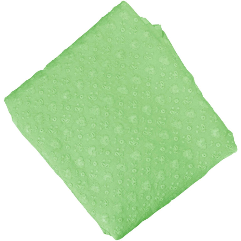 Pista Green Chikan Cotton Fabric