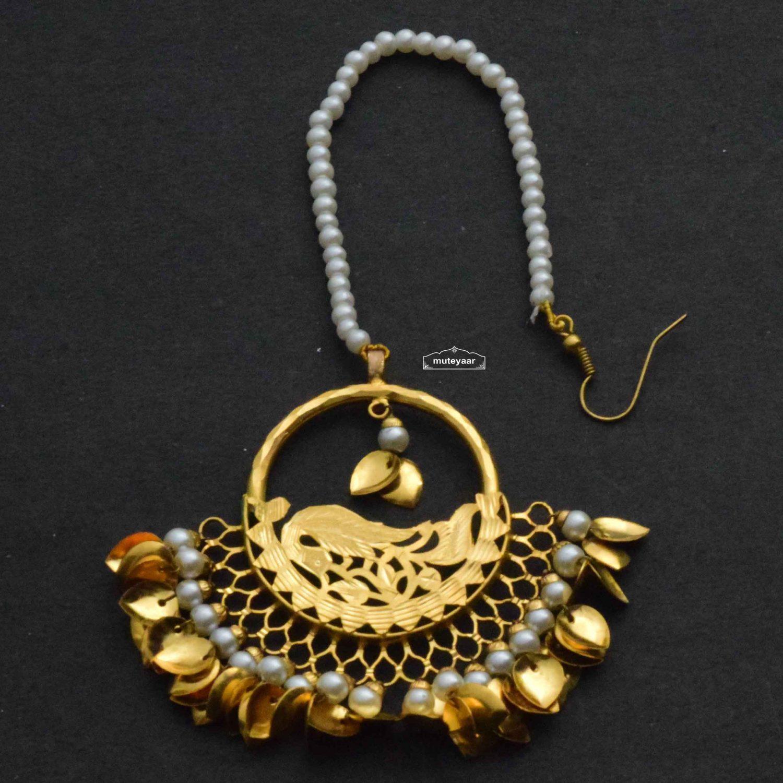 Gold Plated Designer Tikka J0640 1