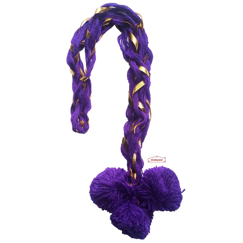 Luddi Paranda Pom Pom Tassles Hair Accesory - All Colours Available 8
