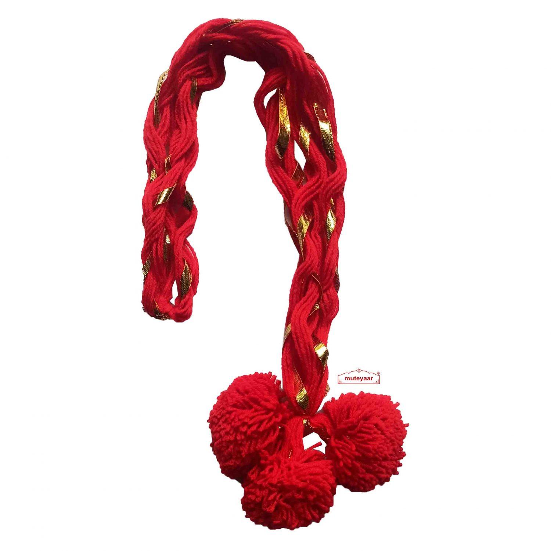 Luddi Paranda Pom Pom Tassles Hair Accesory - All Colours Available 9