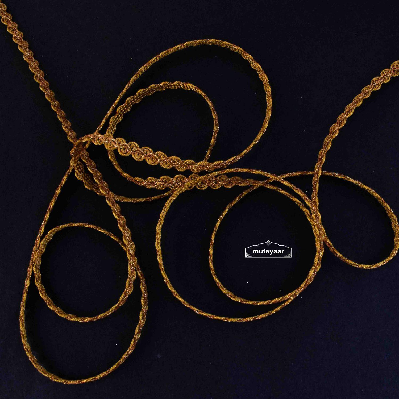 8mm Golden Gota Lace Kinari LC279