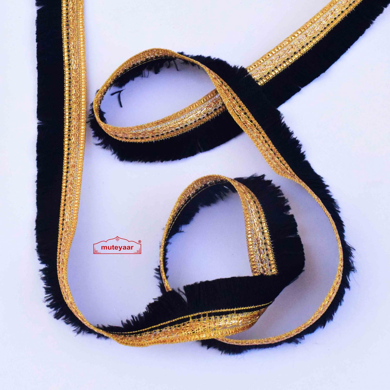 Black Golden Kiran Gota Baorder Lace LC288