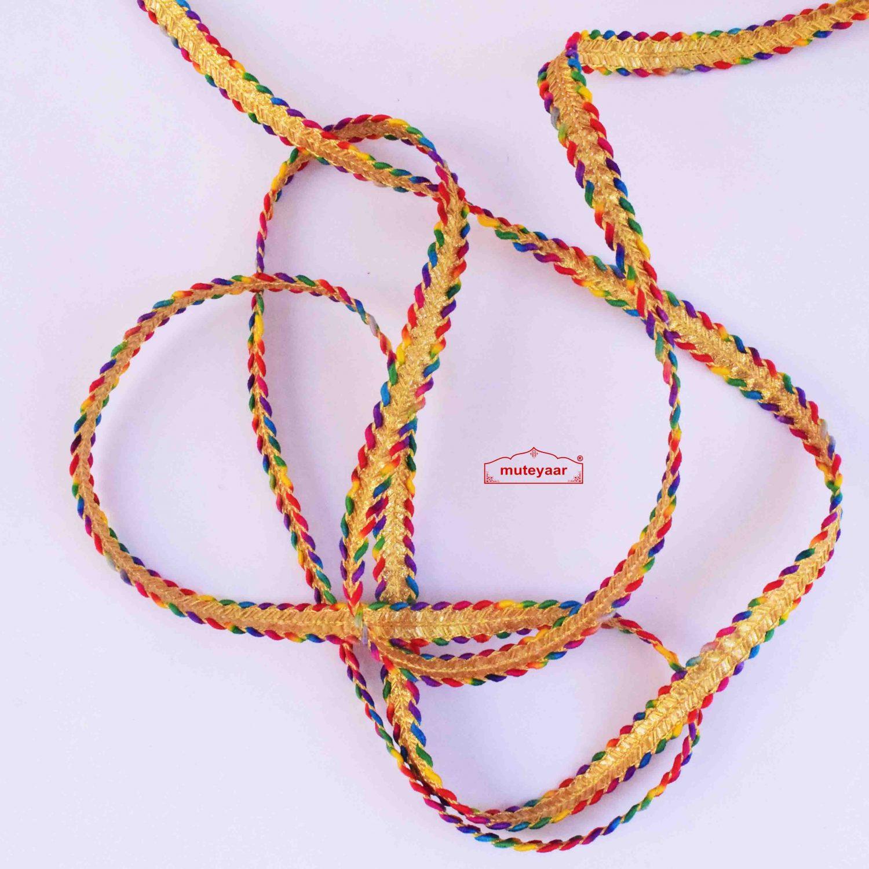 Multicolour Golden Lace LC305