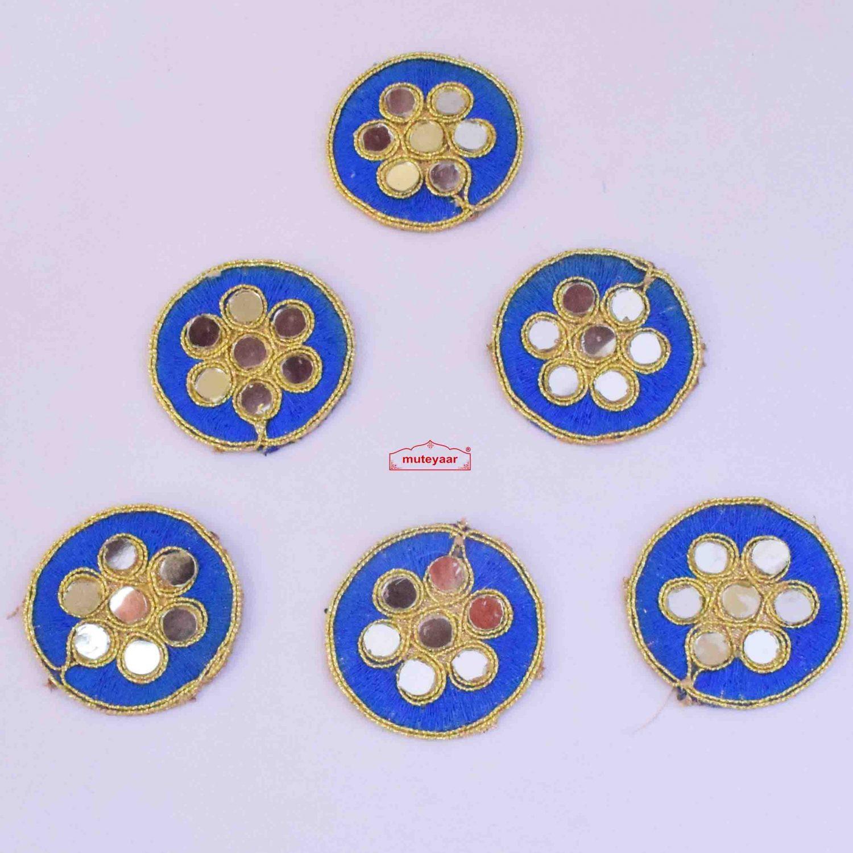Blue Round Motifs with Mirrors MT0061